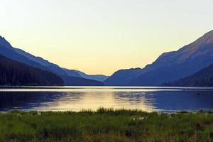 Twilight on a Mountain Lake photo