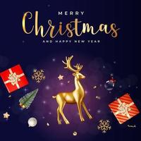 Christmas Holiday Party Background. Happy New Year and Merry Christmas vector
