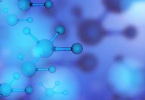 molecule blue background vector