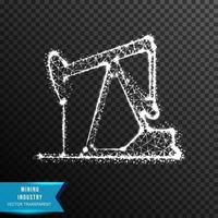 Mining Low poly wireframe vector