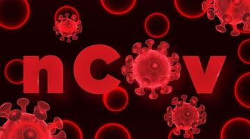 corona virus low poly wireframe vector