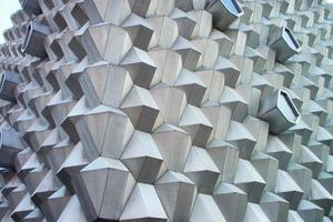 Beautiful 3D thorn concrete wall photo
