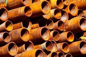 Fondo de patrón de tubería de acero oxidado foto