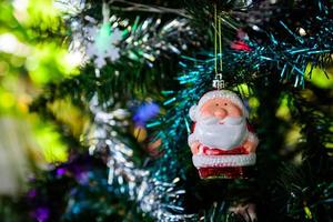 Bright christmas composition with Santa Claus. photo