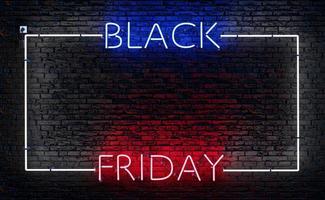 letrero de neón del viernes negro con un marco foto
