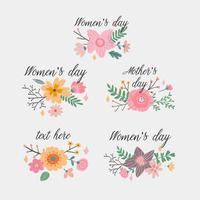 Beautiful Card with watercolor floral bouquet vector