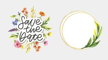 Lovely spring concept card Save the Date vector