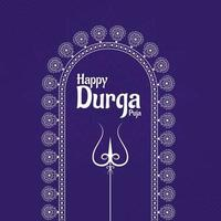 New Durga Puja Social Media Template Design. durga Face Illustration vector