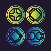 Abstract circle shapes vector