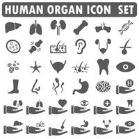 Human Organ icon set design vector