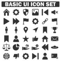 basic business icon set collection vector