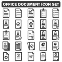 office document icon set vector