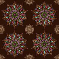 Seamless vector mandala pattern. Indian, tibetan, ottoman motifs