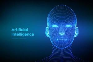AI. Artificial intelligence concept. Ai digital brain. vector