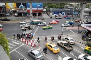 Bangkok, Thailand, Aug 08, 2020 - Traffic in Bangkok photo