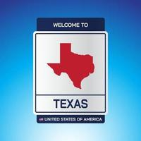 The Sign United states of America with message, Texas and map vector