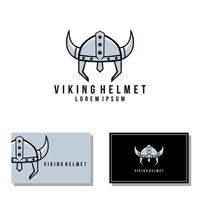 Viking helmet vector graphic, knight mascot logo illustrations