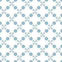 floral diamond seamless pattern with daisies and leaves vector