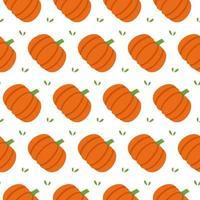 pumpkin seamless pattern. vector background