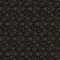 abstract black mechanical circles lines. seamless pattern vector