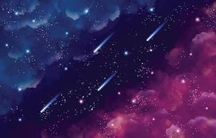 Watercolor Galaxy Background vector