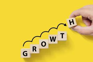 Business success growing growth increase up concept photo