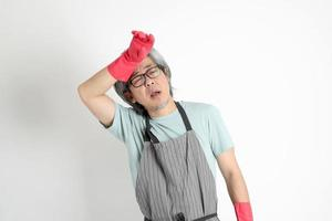 Asian Housekeeper Isolated photo