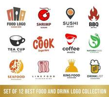 best food and drink logo collection set, perfect for company logo vector
