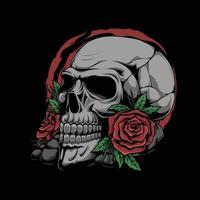 Rose Flower and Skull Vector Artwork