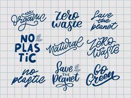Eco Go Green Organic Natural Vegan vector