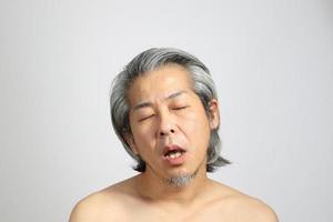 cara de piel real foto