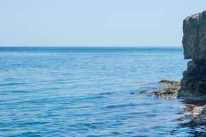 Marine landscape with views of the rocky shore photo
