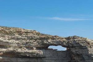 Tarkhankut Cape with beautiful rock formations photo