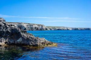 The steep and steep coast of Cape Tarkhankut photo