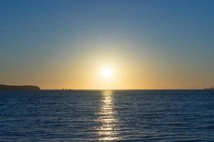 Seascape in the evening with sunset. photo