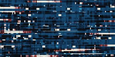 square of pixels blue led pixel background 3d illustration photo