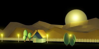 casa pequeña modelo de casa modelo colores pastel ilustración 3d foto