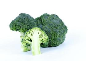 Close uo of Broccoli vegetable raw food on white backgrounds photo