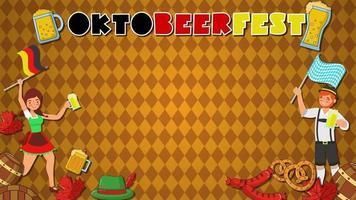 Cartoon Background - Germany October Fest video