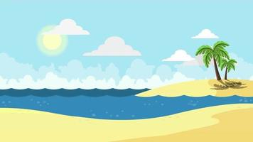 fundo de desenho animado - praia simples video