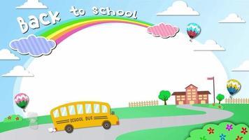 Cartoon Background - Frame School video