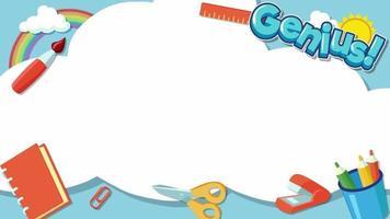 Cartoon Background - School Border video