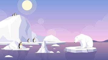 Cartoon Background - Global Warming North Pole video