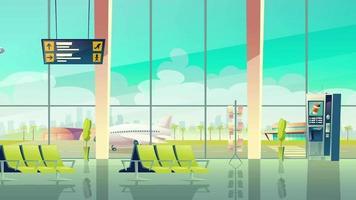 Cartoon Background - Airport Interior video