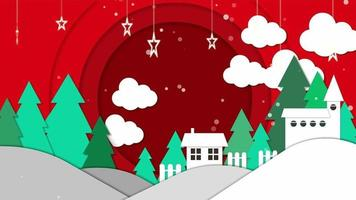 Cartoon Background - Christmas Paper Style video