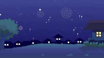 Cartoon Background - New Year Eve video