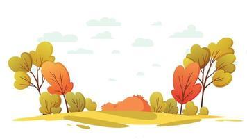 fundo de desenho animado - outono outono simples video