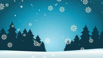 fundo de desenho animado - floco de neve de natal plano simples video