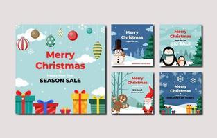 Christmas Festivity Social Media Post Template vector