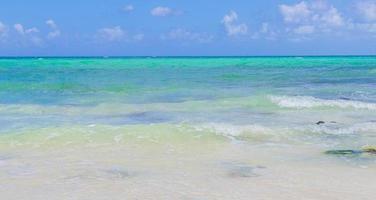 Tropical mexican beach 88 Punta Esmeralda Playa del Carmen Mexico. photo